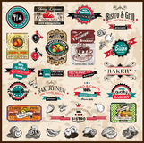 Premium quality collection of Vintage labels. Premium quality collection of Vintage Restaurant, bistro and food & co labels with different styles and space for Royalty Free Stock Images