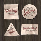 Premium quality craft paper labels Royalty Free Stock Photos