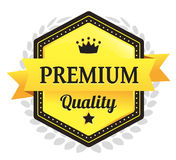 Premium Quality Ecommerce Badge. Modern Premium Quality Vector eCommerce badge Royalty Free Stock Images
