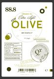 Premium quality extra virgin olive oil label. Layout of food identity branding, modern packaging design. Healthy traditional product, organic vegetarian Stock Photo