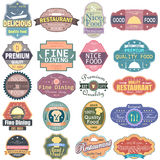 Premium Quality Food label tag sticker for Advertisement Stock Image