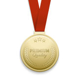 Premium quality gold medal vector illustration Stock Photography