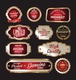 Premium quality gold and red  labels. Collection Stock Images