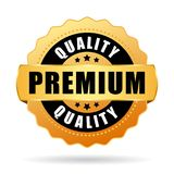 Premium quality gold vector icon. Premium quality gold vector medal icon Royalty Free Illustration