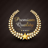 Premium quality golden award vector design illustration Stock Images