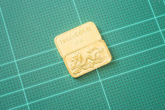 Premium quality golden gold bar Stock Photo