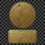 Premium quality golden label .Gold sign. Shiny, luxury badge. Best choice, price. Stock Photography