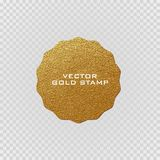 Premium quality golden label .Gold sign. Shiny, luxury badge. Best choice, price. Royalty Free Stock Images