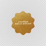 Premium quality golden label .Gold sign. Shiny, luxury badge. Best choice, price. Royalty Free Stock Photography