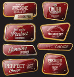 Premium quality golden labels Stock Photography