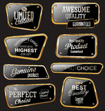 Premium quality golden labels. Collection Stock Images