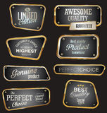 Premium quality golden labels. Collection Stock Photography