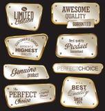 Premium quality golden labels Stock Images