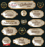 Premium quality golden labels Royalty Free Stock Images
