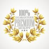 Premium quality golden laurel wreath. Vector Stock Photos