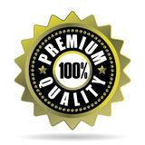 Premium quality golden seal 100% Royalty Free Stock Image