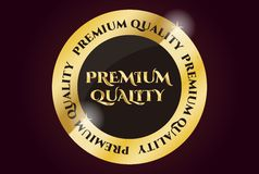 Premium Quality Golden Seal Stock Photography