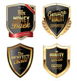 Premium quality golden shields. Collection Stock Photography