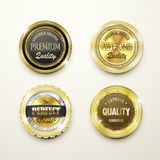 Premium quality gorgeous golden labels collection Stock Image