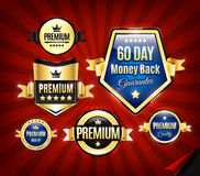 Premium Quality Guarantee Badges Royalty Free Stock Photography