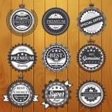 Premium quality, guarantee, genuine, badges vector illustration Stock Photo