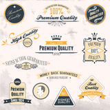 Premium Quality and Guarantee Labels Royalty Free Stock Images