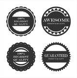 Premium quality guarantee labels Royalty Free Stock Photo
