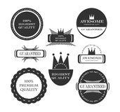 Premium quality guarantee labels Stock Images