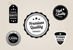 Premium Quality & Guarantee Labels and Badges - retro style design Stock Images