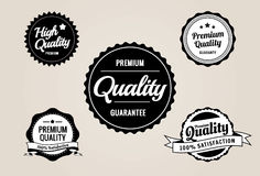 Premium Quality & Guarantee Labels - retro style design Stock Images
