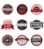 Premium quality and guarantee labels set Royalty Free Stock Image