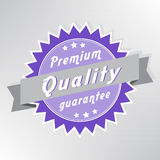 Premium quality guarantee stamp. Premium quality guarantee purple stamp Stock Photo