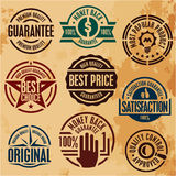 Premium quality guarantee stamps Stock Photography