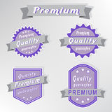 Premium quality guarantee stamps set Stock Photos