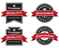 Premium Quality Guaranteed Label. A label or stamp that can be used on packaging or a web page Stock Image