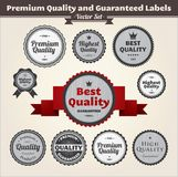 Premium Quality And Guaranteed Labels Stock Photos