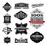 Premium Quality Icon. Set of Vintage Style Premium Quality, Original & Limited Edition Icons/Labels Royalty Free Stock Photography