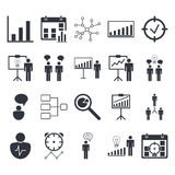 Premium quality icon sets of project management, human resources, communication and statistics icons. Modern web symbol collection Stock Image
