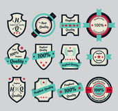 Premium quality icons in gray. Background Royalty Free Stock Images