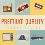 Premium quality icons Royalty Free Stock Images