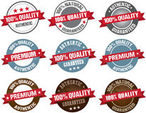 Premium quality item tag set round vector label Stock Photography
