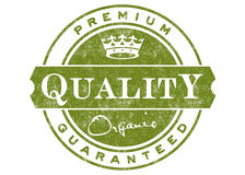 Premium Quality Label. A label or stamp that can be used on packaging for any organic product Royalty Free Stock Images