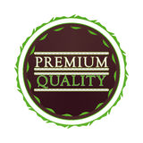 Premium quality label. Premium quality badge on a white background Stock Photos