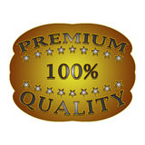 Premium quality label. Premium quality badge on a white background with stars Royalty Free Stock Photo