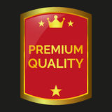 Premium quality label. On black background, vector illustration Stock Photo