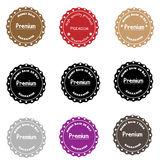 Premium Quality Label Collection in Vintage Style. Money back Royalty Free Stock Image