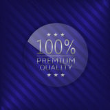 Premium quality label. Glass badge with silver text, Luxury emblem Stock Photography