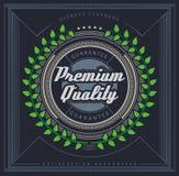 Premium Quality label Stock Image