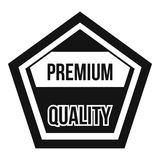 Premium quality label icon, simple style. Premium quality label icon. Simple illustration of premium quality label vector icon for web Royalty Free Stock Images