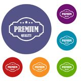 Premium quality label icons set Royalty Free Stock Photos